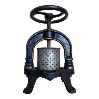 19th Century French Cast Iron Pressoire For Sale