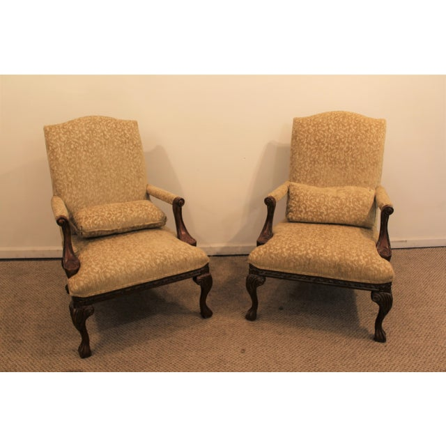 French Ladies Open Arm Ball & Claw Arm Chairs - A Pair - Image 4 of 11