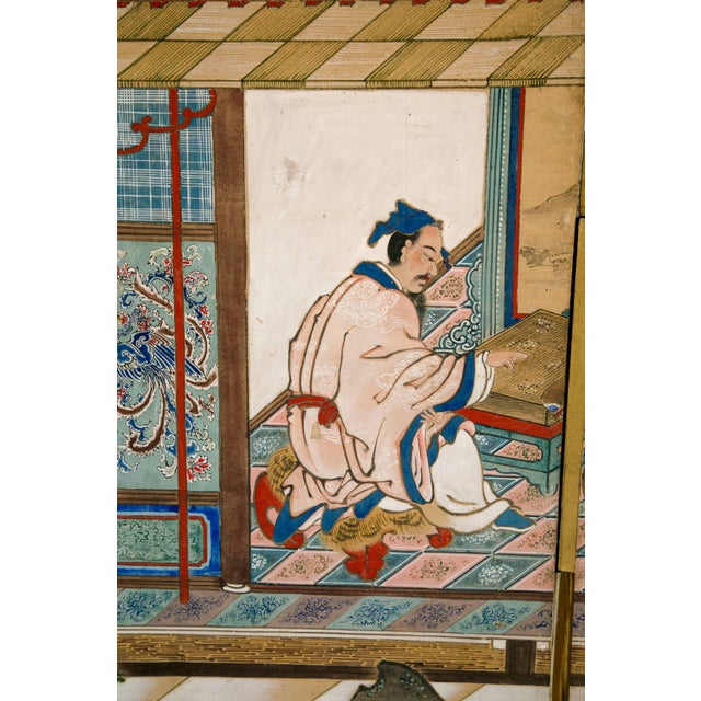 Asian 18th Century Japanese Six-Panel Screen For Sale - Image 3 of 4