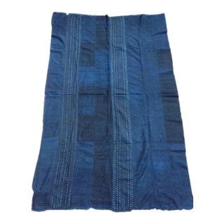 Van Verre Blue Fabric Throw For Sale
