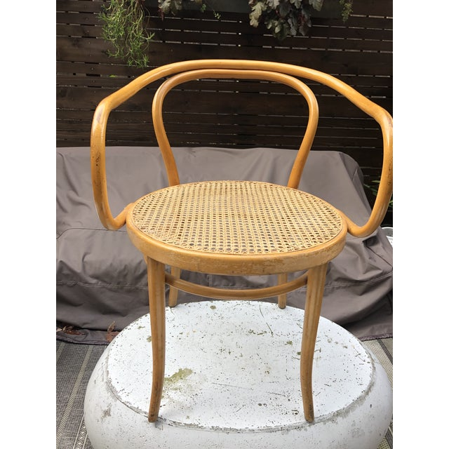 79183ca235 1960s Mid-Century Modern Thonet B-9 Corbusier Bentwood Cane Chairs ...