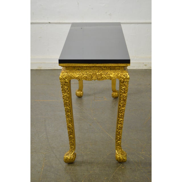 Georgian Georgian Style Carved Gilt Console Table by Manheim Weitz For Sale - Image 3 of 13
