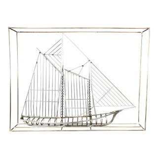 Curtis Jeré Monumental Steel Ship Sculpture, Signed and Dated For Sale