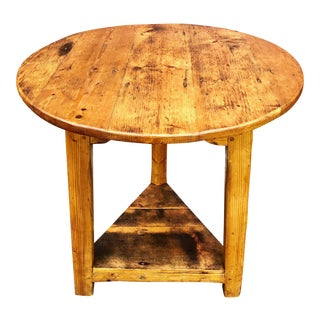 19th Century English Traditional Pine Cricket Table For Sale