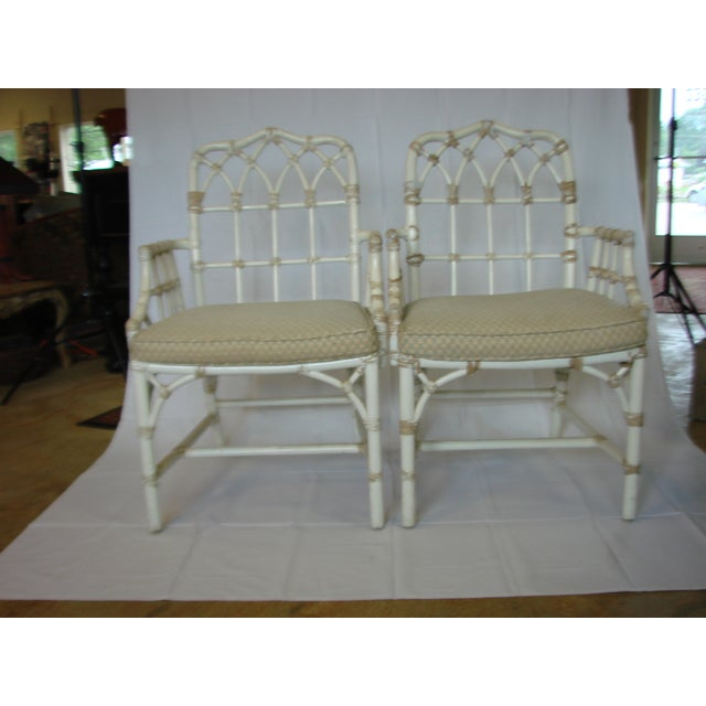 Vintage McGuire Rattan Arm Chairs - Pair - Image 2 of 6