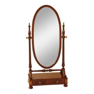Maitland Smith Large Regency Mahogany Cheval Dressing Mirror