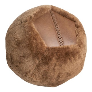 "Ottoman X 18"" in Latte Shearling by Moses Nadel For Sale"