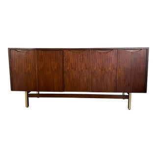 American of Martinsville Walnut Credenza For Sale