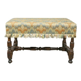 Flemish Baroque Walnut Bench For Sale