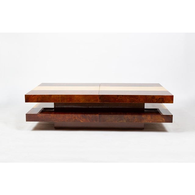 1970s Aldo Tura Bar Table For Sale - Image 5 of 12