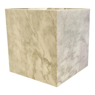Universal Furniture White Marble Cube For Sale
