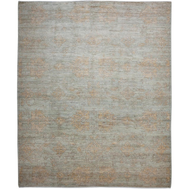 """New Oushak Hand-Knotted Rug - 8'4"""" x 10'1"""" For Sale"""