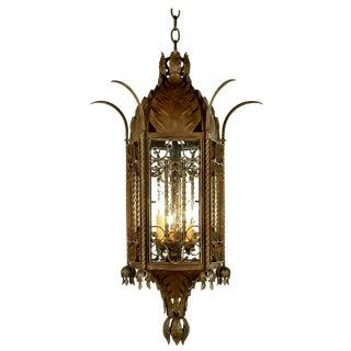 Dana Creath Handmade Spanish Revival Hanging Lantern For Sale