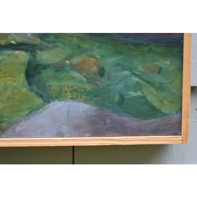 """Stephen Remick """"Vermont Waterfall, Warren Falls"""" Contemporary Painting For Sale In Providence - Image 6 of 11"""