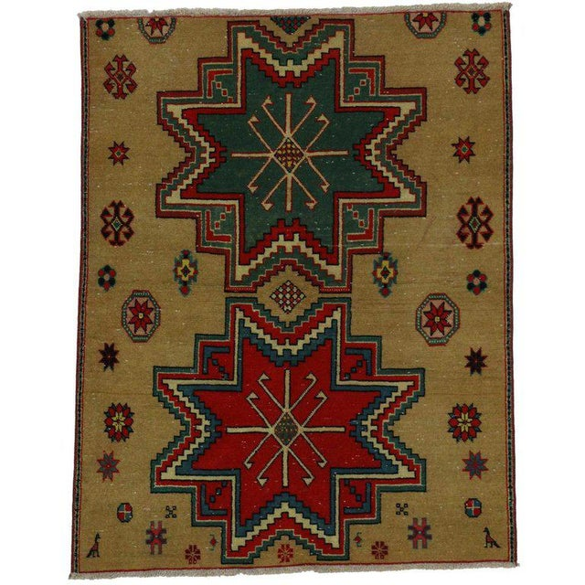 Mid 20th Century 20th Century Turkish Oushak Rug - 2′6″ × 3′2″ For Sale - Image 5 of 5