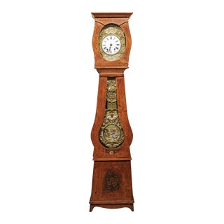 19th Century Painted Tall Case Clock