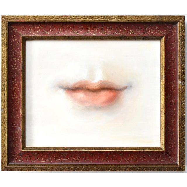 2020s Contemporary Lover's Lips Painting by Susannah Carson For Sale - Image 5 of 5