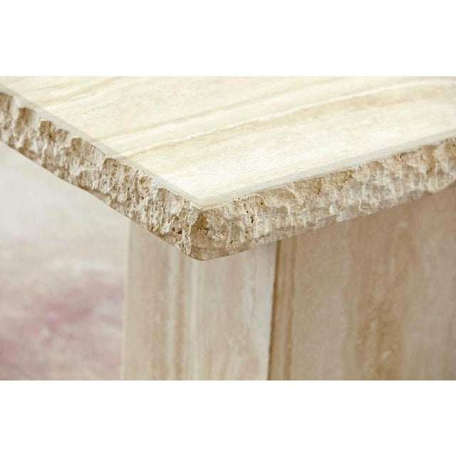 Stone International Travertine Marble Console Table For Sale - Image 4 of 4