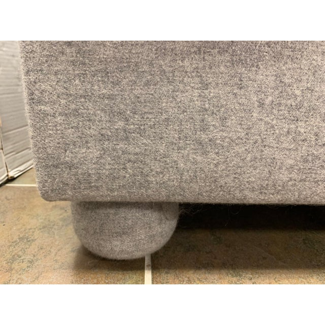 Donghia John Hutton for Donghia Gray Sofa For Sale - Image 4 of 9