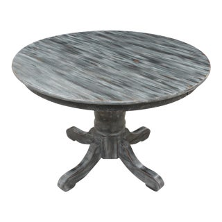 French Country Gray Round Table For Sale
