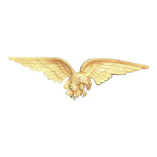 Federal Large Brass Eagle Wall Hanging For Sale