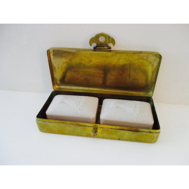 Neiman Marcus Hollywood Regency Brass & Copper Trinket Box - Image 5 of 10