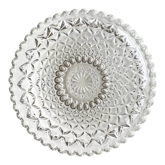 Vintage Textured Glass Catchall Dish For Sale