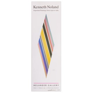 Signed Kenneth Noland Poster For Sale