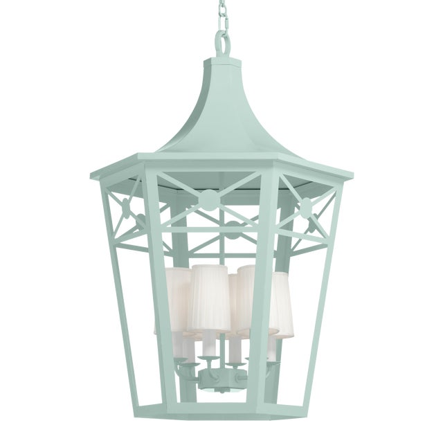 Bennington Lantern, Palladian Blue For Sale