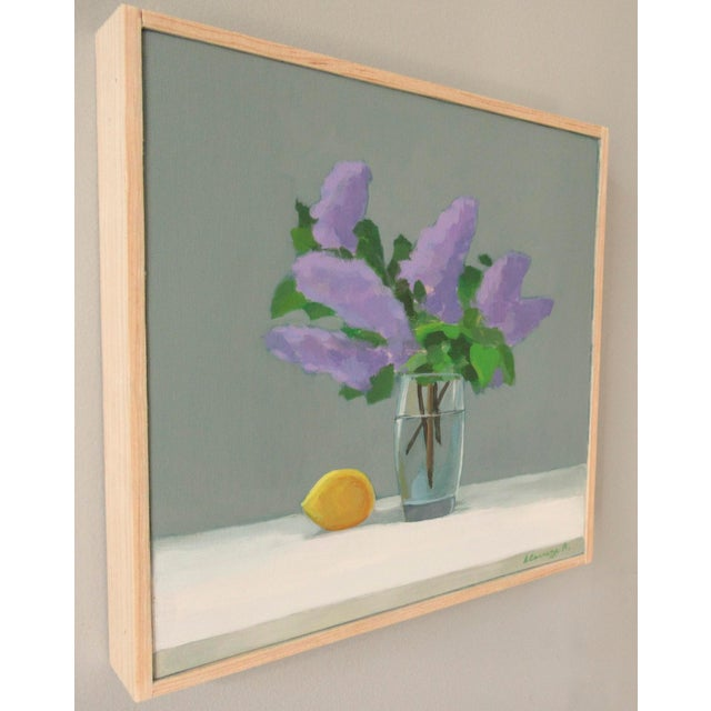 Impressionist Lilac and Lemon by Anne Carrozza Remick For Sale - Image 3 of 6