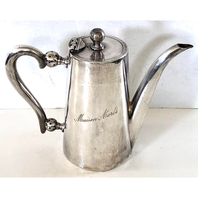 Silver Belgian Hotel Silver Teapot For Sale - Image 8 of 8