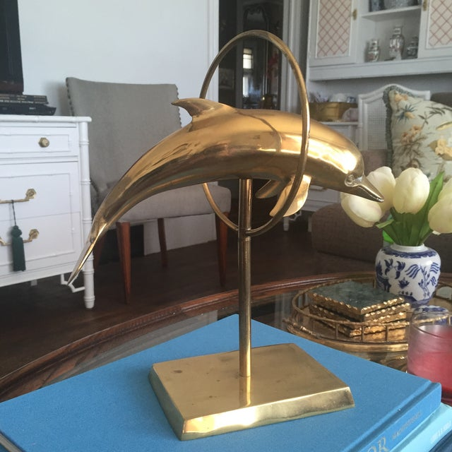 Mid Century Brass Dolphin Fish Figurine - Image 9 of 9