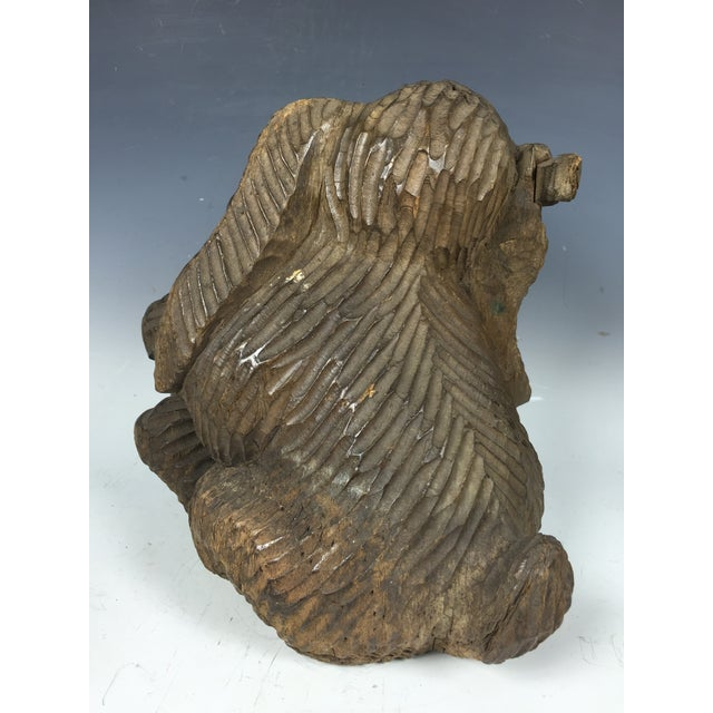 Vintage Carved Wood Paper Mache Rabbit Mold For Sale In New York - Image 6 of 6