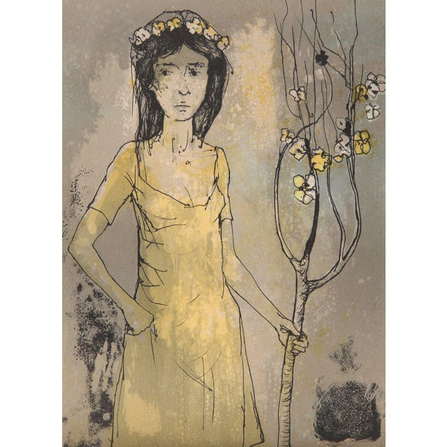 Artist: Jean Jansem, French (1920 - 2013). Title: Spring Maid. Year: 1960. Medium: Lithograph, signed in the plate. Size:...