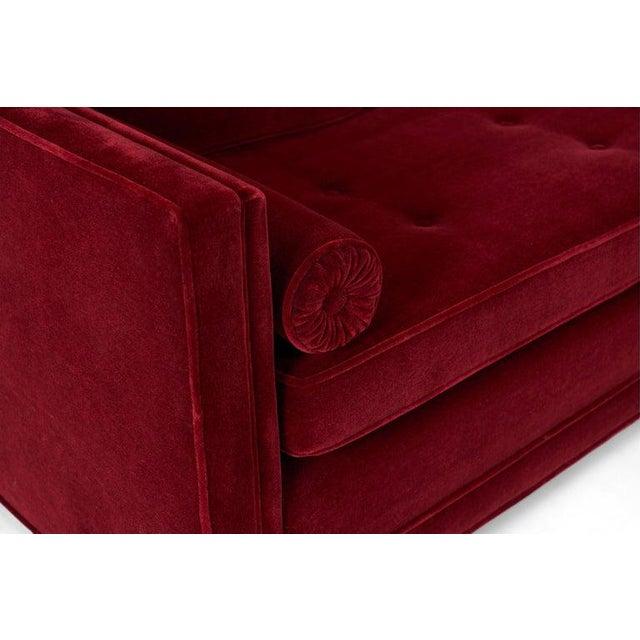 Mid-Century Modern Ward Bennett Tuxedo Sofa For Sale - Image 3 of 6