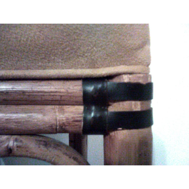 Wood Palecek Bamboo, Leather and Jute Barstools- Set of 3 For Sale - Image 7 of 9