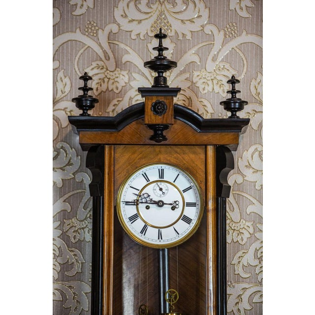 19th-Century Regulator Wall Clock For Sale - Image 6 of 11