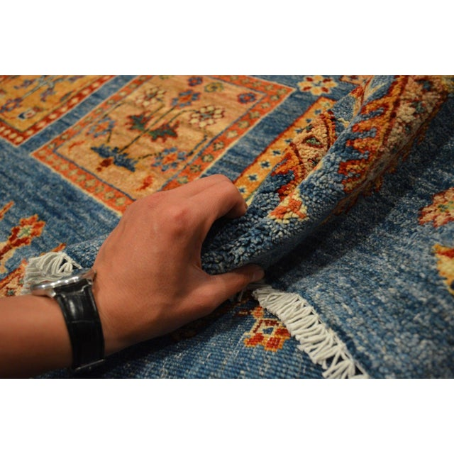 Hand Knotted Persian Bakhtiari Wool Rug - 8′5″ × 9′9″ For Sale In Orlando - Image 6 of 8