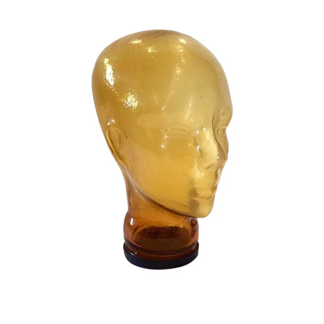 Vintage Glass Head Sculptural Mannequin Head For Sale