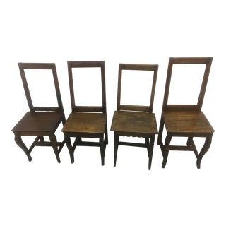 Antique Small Side Chairs- Set of 4 French 18 Century For Sale
