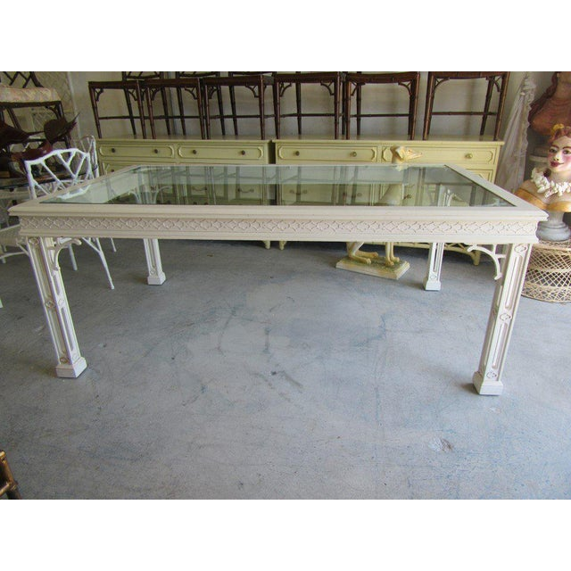 Palm Beach Fretwork Dining Table For Sale In West Palm - Image 6 of 12