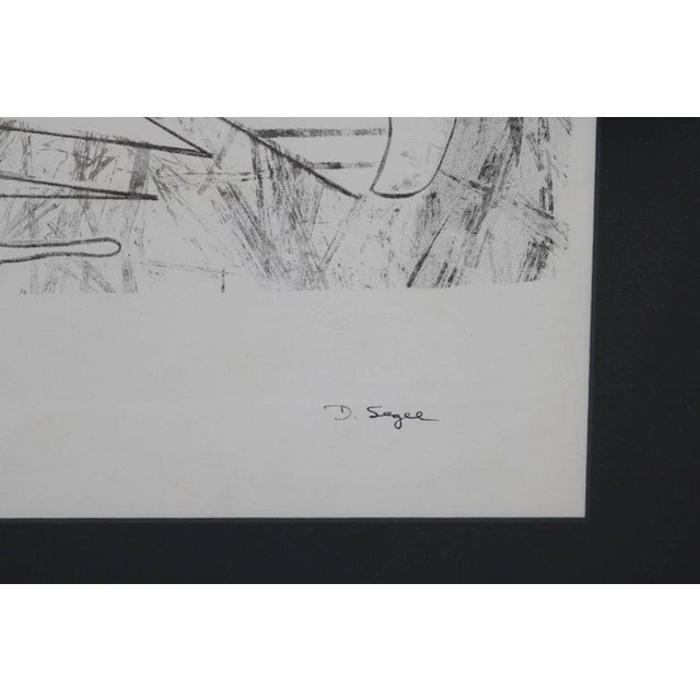 Abstract Portrait Lithograph by David Segel For Sale In Los Angeles - Image 6 of 7