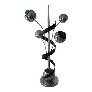 Vintage Mid-Century Modern Sculptural Chrome Eyeball Lamp