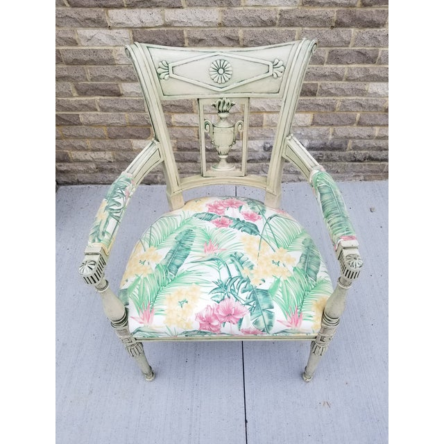 Italian Italian Neoclassical Painted Armchair For Sale - Image 3 of 13