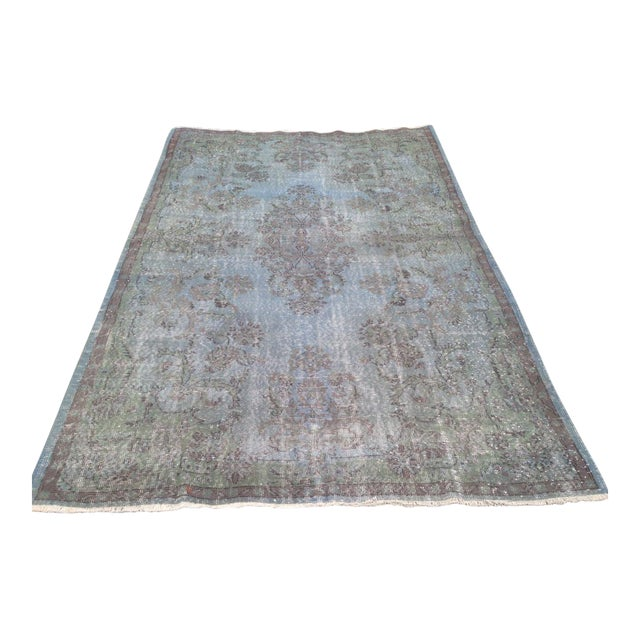 Turkish Overdyed Patchwork Rug - 6′4″ × 9′9″ - Image 1 of 6