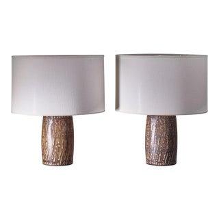 Pair of Gunnar Nylund Ceramic Table Lamps, Sweden For Sale