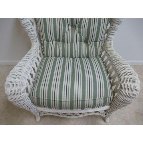 Vintage Custom Wicker Patio Porch Living Room Lounge Chair For Sale In Philadelphia - Image 6 of 13
