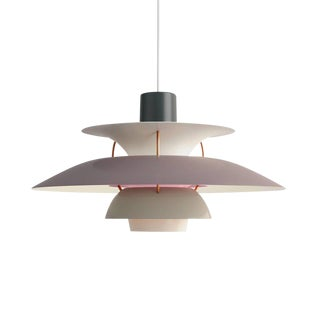 Poul Henningsen Ph 5 Pendant for Louis Poulsen in Gray For Sale