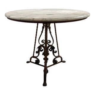 1960s French Marble Top Table For Sale