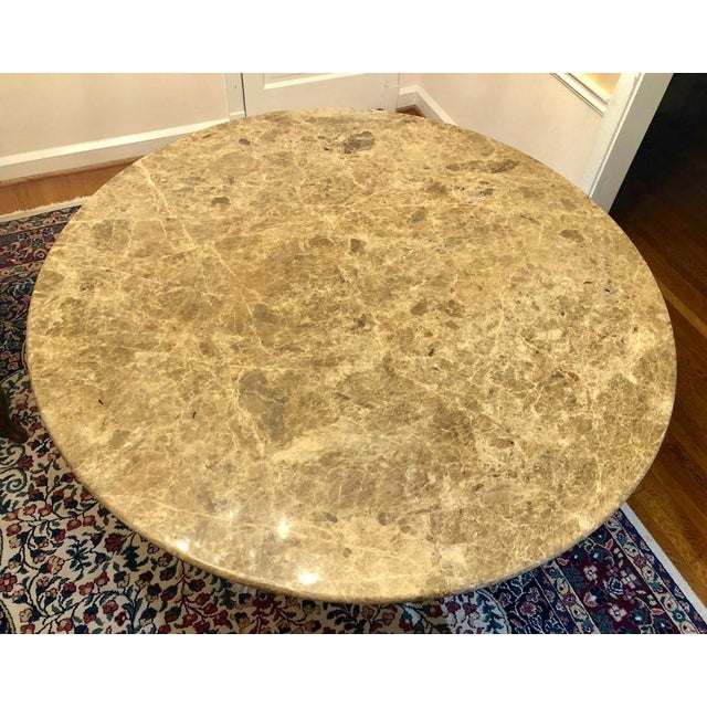 Mid 20th Century Mid-Century Round Marble Dining Table For Sale - Image 4 of 13